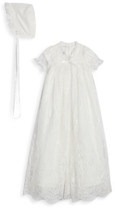 Pippa & Julie Baby's 2-Piece Lace Overlay & Mesh Christening Gown