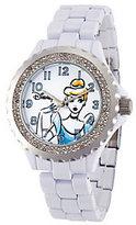 Disney Women's White Enamel Cinderella Watch