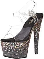Pleaser USA Women's STPLASH708/C/B Platform Dress Sandal