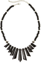 JCPenney MIXIT Mixit Black Wood Spike Bead Boho Necklace
