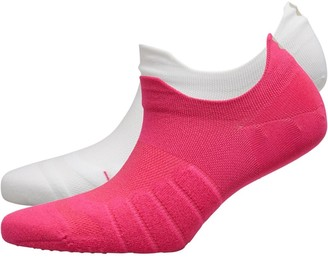 Under Armour Womens Pinnacle Cushioned Anatomical Training Socks Two Pack Pink/White