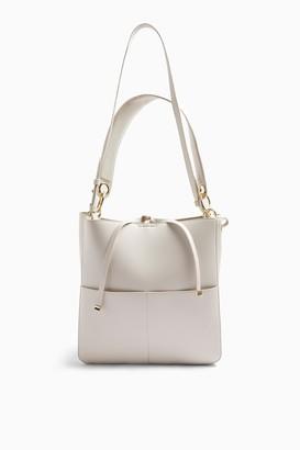 Topshop Stone Double Pocket Hobo Bag