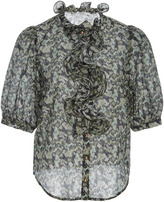 Manoush Printed Button Up Blouse
