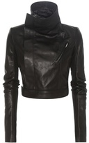Rick Owens Cropped leather biker jacket