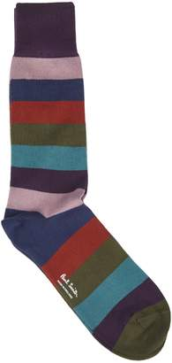 Paul Smith Purple Socks With Hammer Stripes Pattern