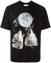 Ami Alexandre Mattiussi oversize crew neck tshirt wolves print