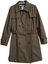 Tommy Hilfiger Khaki Cotton Trench Coat for Women