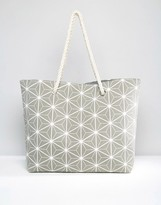 South Beach Prisim Print Beach Bag