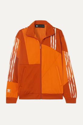 adidas Danielle Cathari Striped Paneled Satin-jersey Track Jacket - Orange