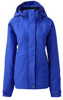 Lands' End Women's Plus Size Hooded Squall Jacket-Deep Scarlet
