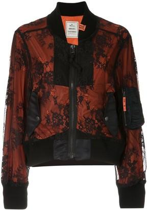 Maison Mihara Yasuhiro Lace Layer Bomber Jacket