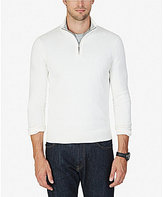 Nautica Quarter-Zip Mock Neck Sweater