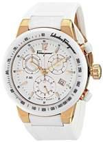 Salvatore Ferragamo Women's F55LCQ75101 S121 F-80 Gold IP and Ceramic Chronograph Watch