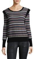 Joie Cais C Multi-Lurex Stripe Sweater