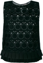 Capucci embroidered tank top - women - Cotton - 40