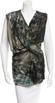 Helmut Lang Twisted Silk Top