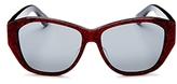 Saint Laurent Mirrored Square Sunglasses, 55mm