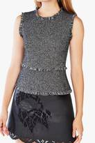 BCBGMAXAZRIA Black Textured Top