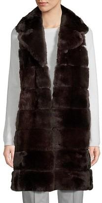 Wolfie Fur Made For Generation Rex Rabbit Fur Long Vest
