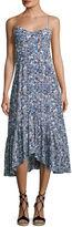 Saloni Inga Floral-Print Sleeveless Midi Dress