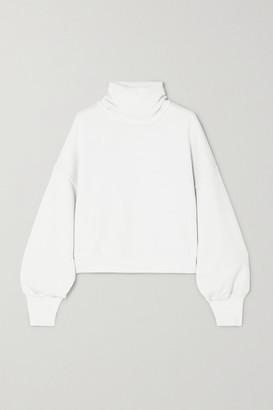 A Gold E AGOLDE - Cotton-jersey Turtleneck Sweatshirt - White
