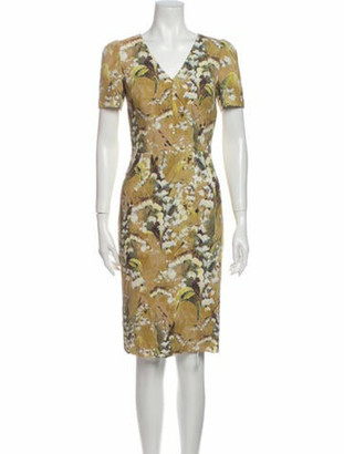 Dolce & Gabbana Floral Print Knee-Length Dress