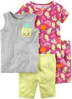 Carter's Girls 4-12 Fruit Tops & Shorts Pajama Set