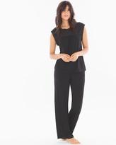 Soma Intimates Chiffon Plus Size Pajama Set Black