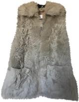 Anine Bing Beige Fur Jacket for Women