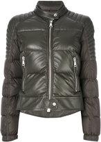Moncler Clematic jacket - women - Lamb Skin/Polyamide/Goose Down - 1