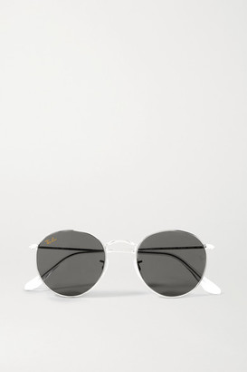 Ray-Ban Round-frame Silver-tone Sunglasses