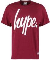 Hype Print Tshirt Burgundy/white