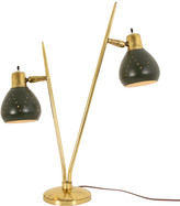 Rejuvenation Hunter Green and Brass Mid-Century Table Lamp c1960s