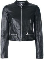 Dolce & Gabbana cropped leather jacket