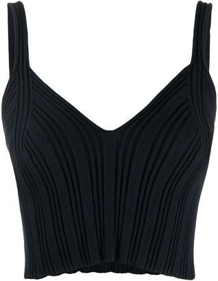 MM6 MAISON MARGIELA Ribbed Cropped Top