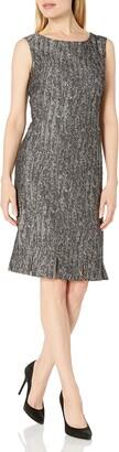 Kasper Women's Foil Print Swirl Jacquard Sheath Dress