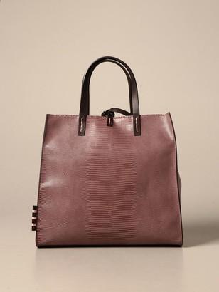 Manila Grace Felicia Handbag In Python Print Synthetic Leather
