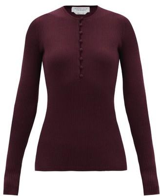 Gabriela Hearst Jenny Ribbed Cashmere-blend Sweater - Burgundy