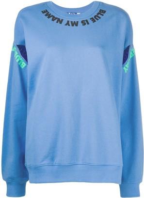 Sjyp Slit-Embellished Sweatshirt