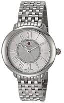 Michele Serein Mid Bracelet (Silver) Watches