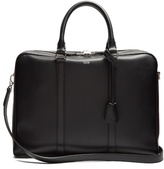 TOD'S Logo-print leather briefcase