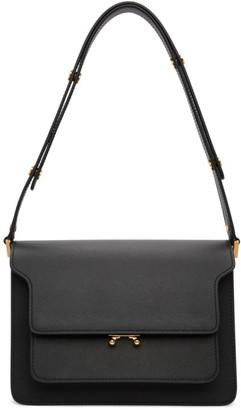 Marni Black Saffiano Medium Trunk Bag