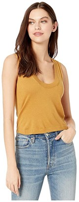 7 For All Mankind Vintage Crop Tank (Amber) Women's Clothing