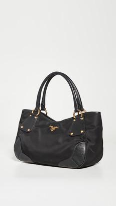 What Goes Around Comes Around Prada Black Nylon Handbag