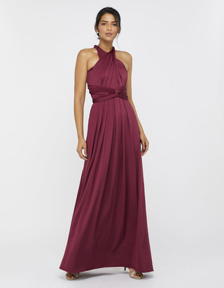 Monsoon Tallulah Twist Me Tie Me Jersey Bridesmaid Dress Brown
