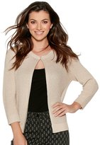 M&Co Textured knit shimmer cardigan