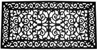 One Kings Lane 2'x4' Piazzo Doormat - Black
