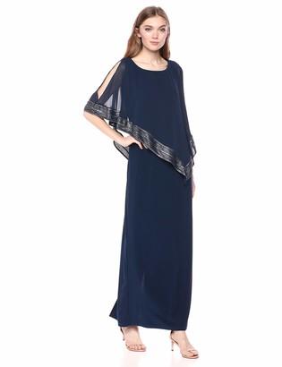 SL Fashions Women's Cape Dress