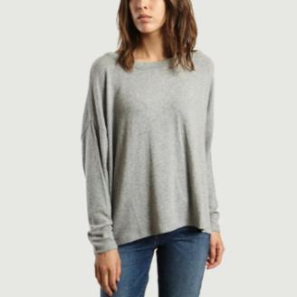 American Vintage Gray Viscose Long Raglan Sleeves Vetington T-Shirt - viscose | gray | XS/S