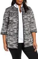 Ming Wang Contrast Trim Knit Jacket